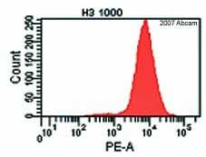 Flow Cytometry - Anti-Histone H3 antibody - Nuclear Loading Control and ChIP Grade (ab1791)
