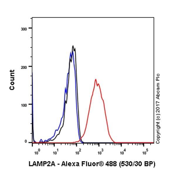 Flow Cytometry - Anti-LAMP2A antibody [EPR4207(2)] - Lysosome Marker (ab125068)