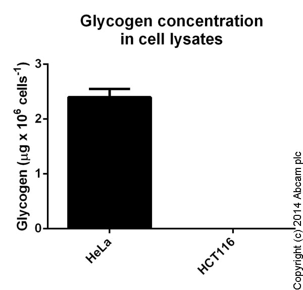 Functional Studies - Glycogen Assay Kit II (Colorimetric) (ab169558)