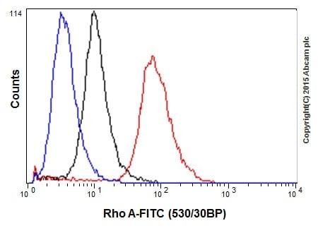 Flow Cytometry - Anti-RhoA antibody [EPR18134] (ab187027)