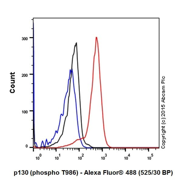 Flow Cytometry - Anti-p130 (phospho T986) antibody [EPR2389(2)] (ab211928)