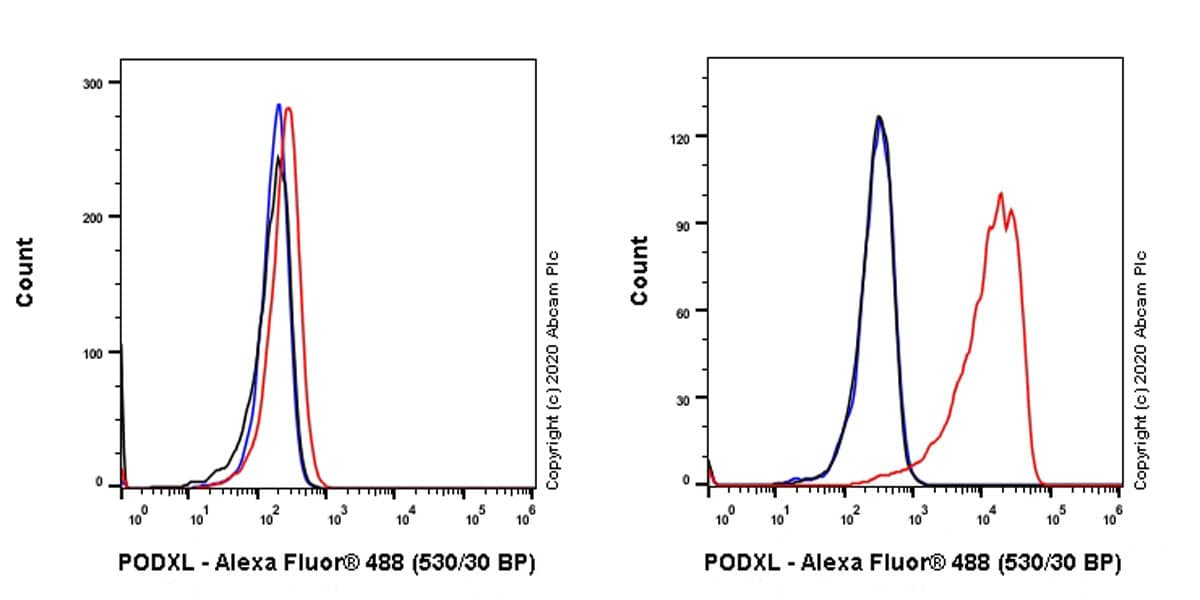 Flow Cytometry - Anti-PODXL antibody [PcMab-47] - BSA and Azide free (ab264549)