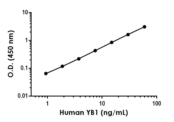 Example of human YB1 standard curve in Sample Diluent 1X Cell Extraction Buffer PTR.