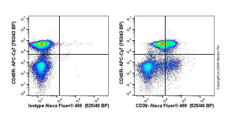 Flow Cytometry - Alexa Fluor® 488 Anti-CD39 antibody [EPR22507-48] (ab270916)
