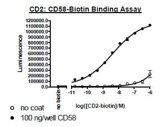 Functional Studies - Recombinant Human CD2 protein (Tagged) (Biotin) (ab271412)