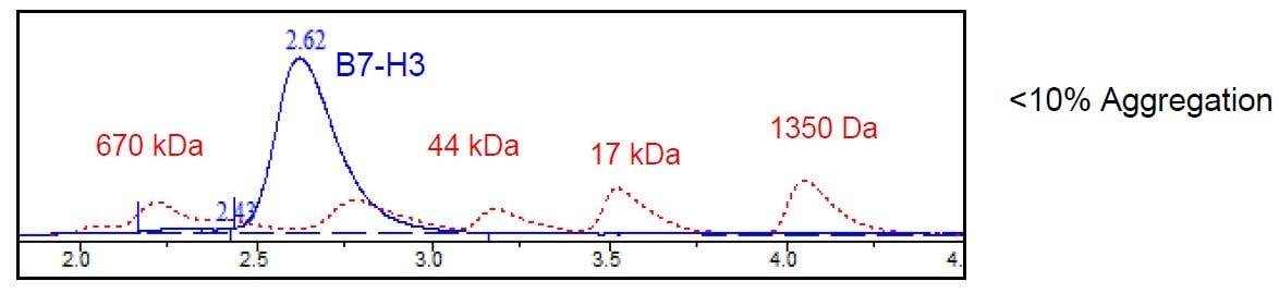 Size Exclusion Chromatography - Recombinant Human CD276 protein (Tagged) (ab271420)