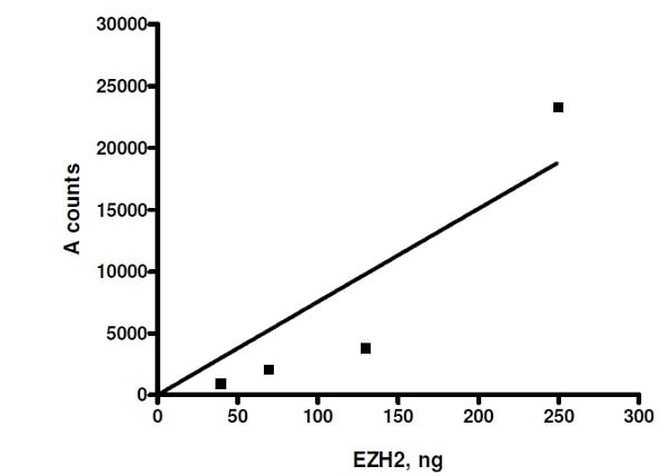 Functional Studies - Recombinant human RBBP4 + EED + SUZ12 + AEBP2 + EZH2 (mutated P132S) protein (Active) (ab271504)