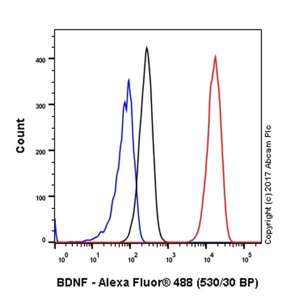 Flow Cytometry - Anti-BDNF antibody [EPR1292] - BSA and Azide free (ab271873)