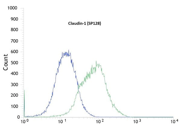 Flow Cytometry - Anti-Claudin 1 antibody [SP128] - BSA and Azide free (ab271884)