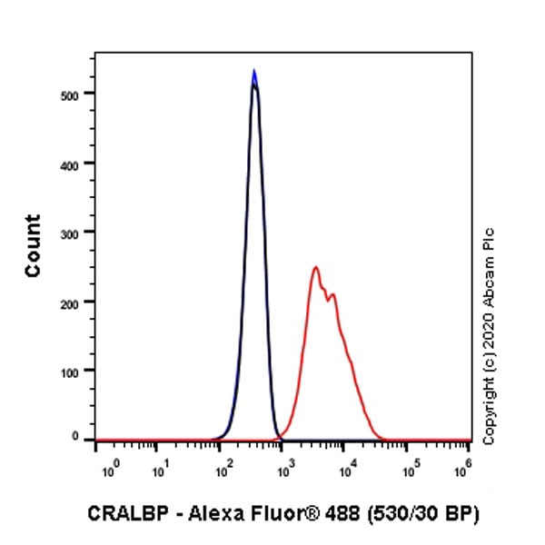 Flow Cytometry - Anti-CRALBP antibody [EPR23448-119] - BSA and Azide free (ab272171)