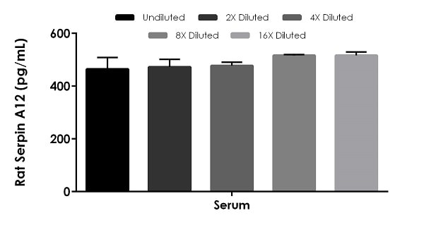 Interpolated concentrations of native Serpin A12 in rat serum samples.