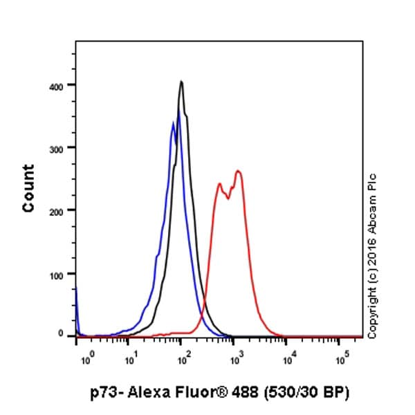 Flow Cytometry - Anti-p73 antibody [EP436Y] (ab40658)
