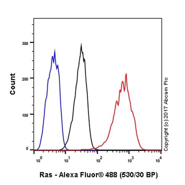 Flow Cytometry - Anti-Ras antibody [EP1125Y] (ab52939)