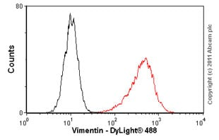 Flow Cytometry - Anti-Vimentin antibody [RV202] (ab8978)