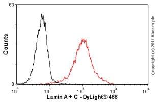 Flow Cytometry - Anti-Lamin A + Lamin C antibody [131C3] - Nuclear Envelope Marker (ab8984)